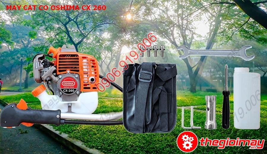 Phụ kiện đi kèm của máy cắt cỏ Oshima CX-260