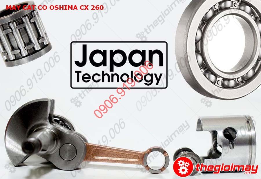 Các bộ phận của máy được sản xuất tại Nhật Bản