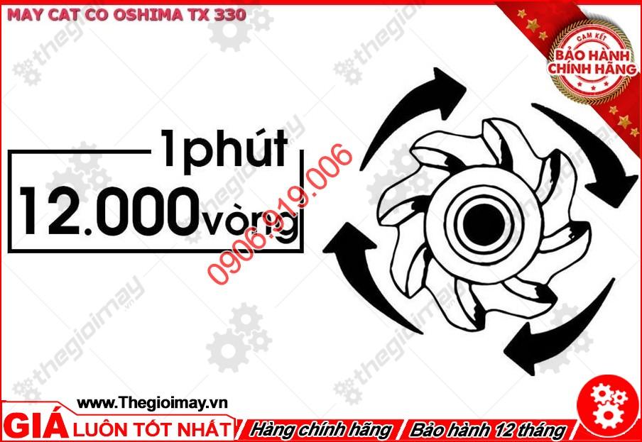 Tốc độ vòng quay lên đến 12000 vòng/pht1