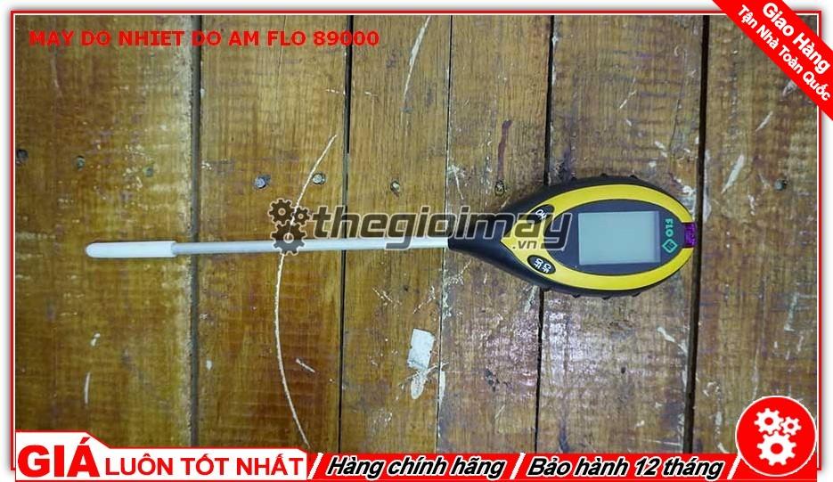 Mặt trước máy đo nhiệt độ - độ ẩm - PH - Ánh sáng Flo-89000