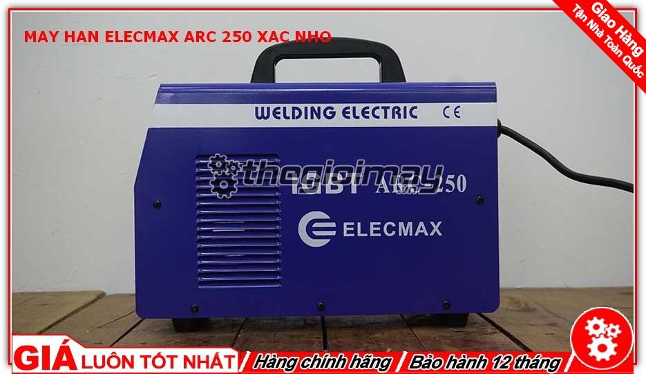 Mặt trước máy hàn Elecmax ARC 250 xác nhỡ