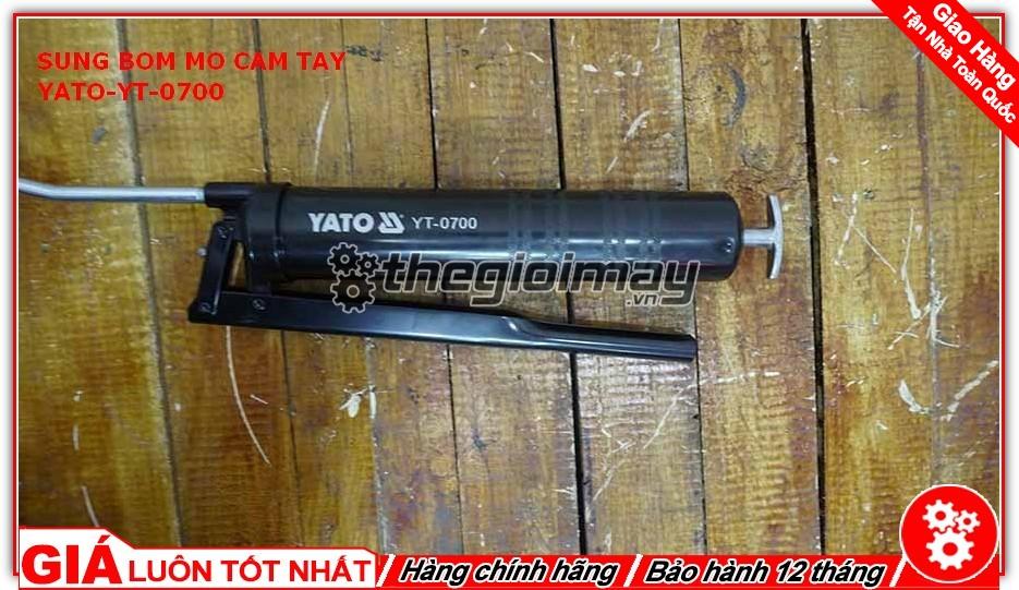 Đầu bơm mỡ YT-0700 giúp người dùng dễ dàng kiểm soát được lượng mỡ đầu ra, tiết kiệm mỡ bò hơn