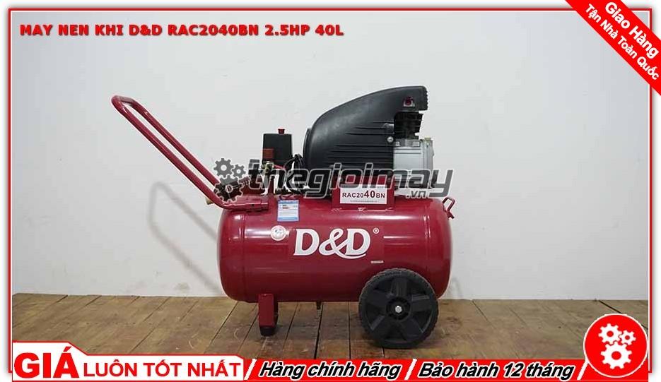 Máy nén khí D&D RAC2040BN 2.5HP