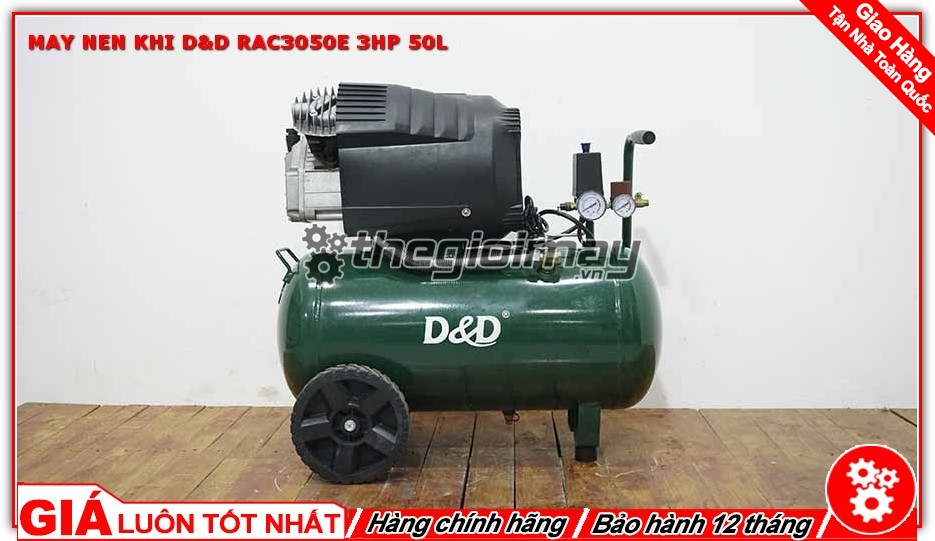 Máy nén khí D&D RAC3050E 3HP