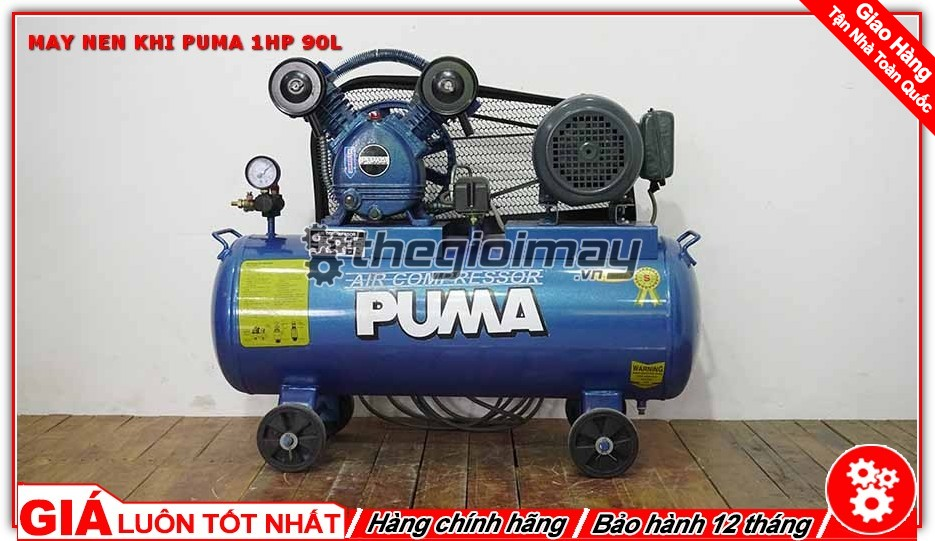 Máy nén khí PUMA 1HP 90L