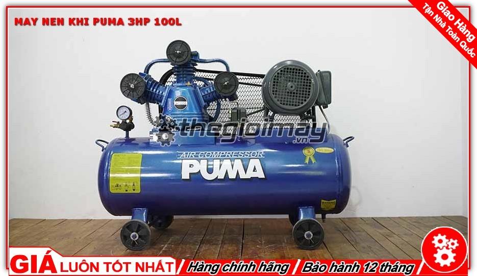 Máy nén khí dây đai PUMA 3HP 100L