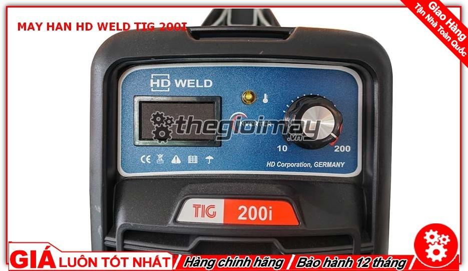 Bảng điều khiển máy hàn TIG 200 I