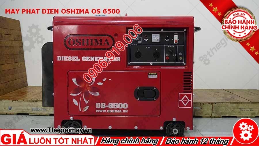 Mặt trước máy phát điện Oshima OS 6500