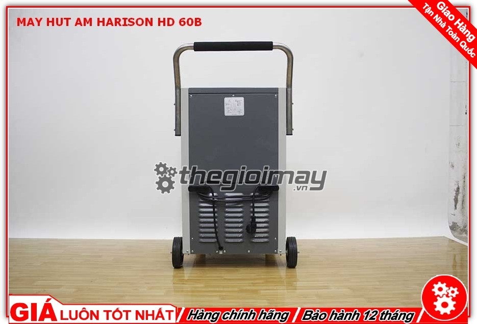 Mặt sau máy hút ẩm Harison HD-60B