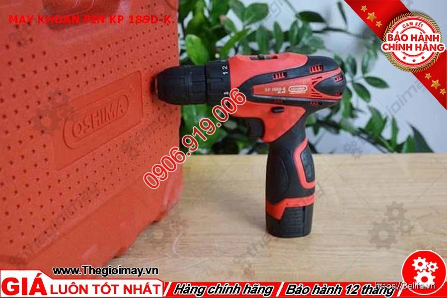 Oshima KP12SD-K có đường kính tối đa trên gỗ là 20mm và trên thép là 8mm.