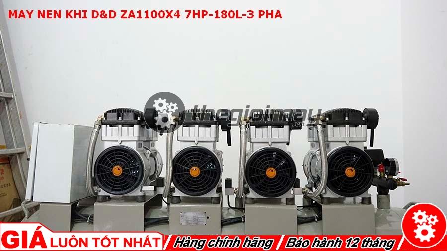 Máy nén khí D&D ZA1100x4 sử dụng moto điện 380V có công suất 6HP