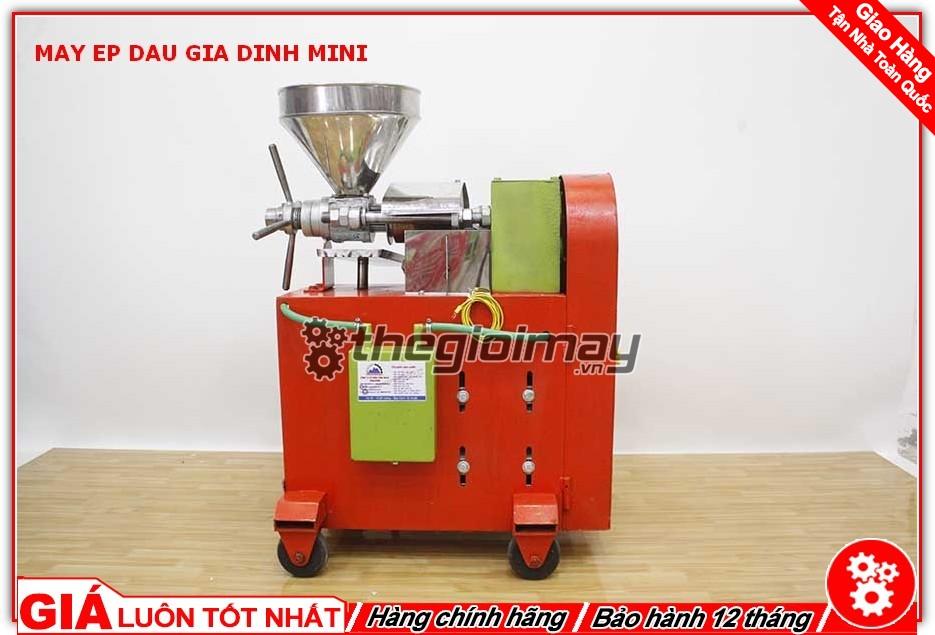 Mặt sau máy ép dầu mini OKASU TK39