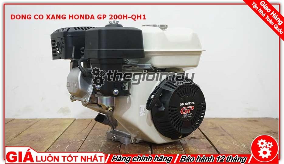 Động cơ xăng Honda GP200H QH1 là sản phẩm được người tiêu thụ tin dùng trong chạy ghe xuồng, động cơ cho máy tuốt lúa, máy khoan cắt bê tông,