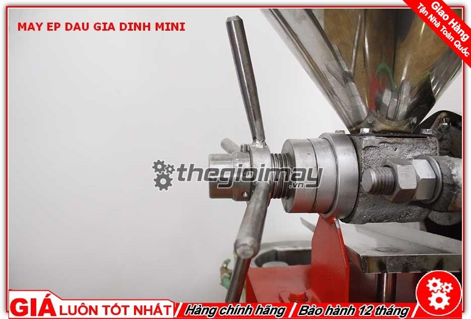 Trục điều chỉnh lực ép máy ép dầu mini OKASU TK39