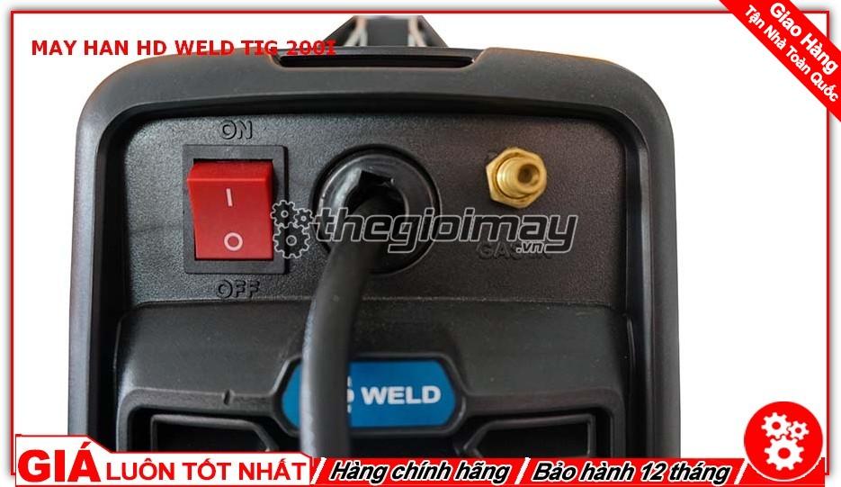 Công tắc và ống dẫn ga máy hàn TIG 200 I
