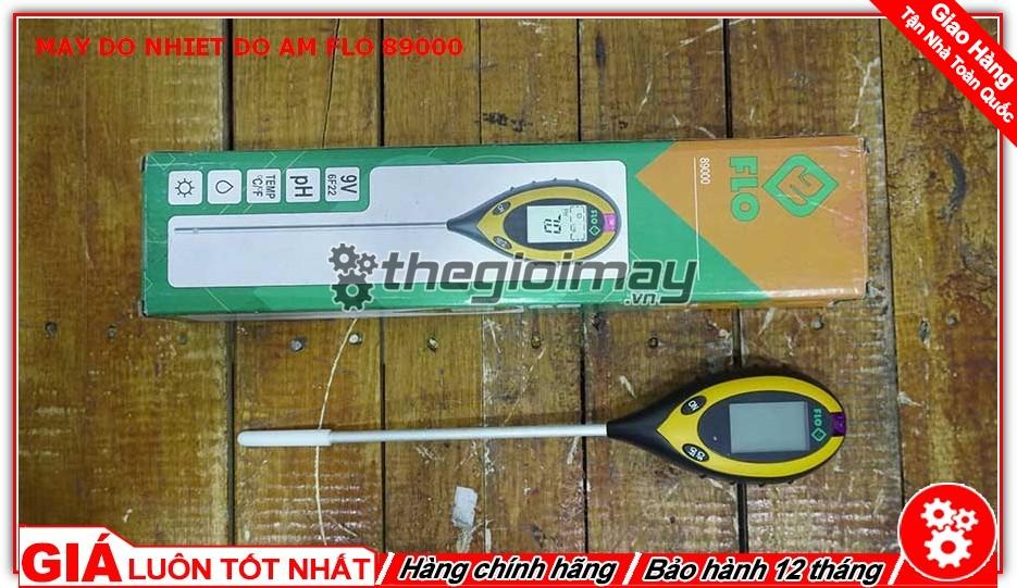 Hộp máy đo nhiệt độ - độ ẩm - PH - Ánh sáng Flo-89000