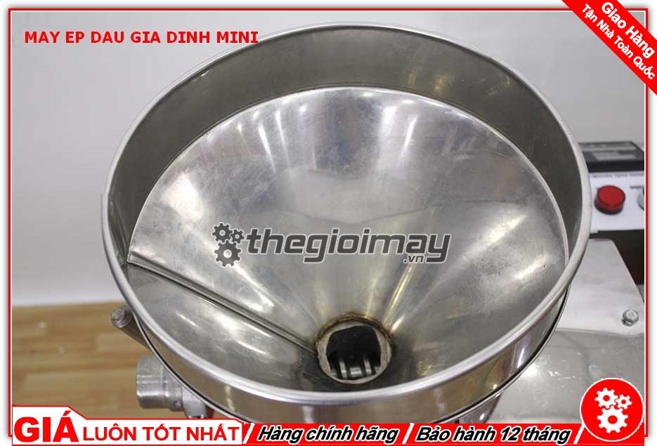 Phễu cho nguyên liệu máy ép dầu mini OKASU TK39