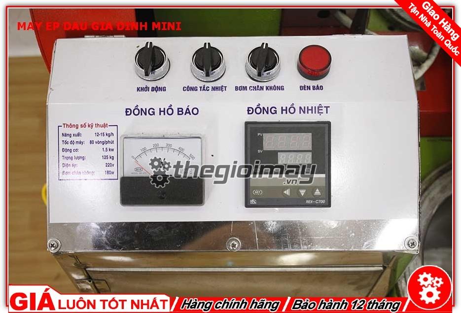 Bảng điều khiển máy ép dầu mini OKASU TK39