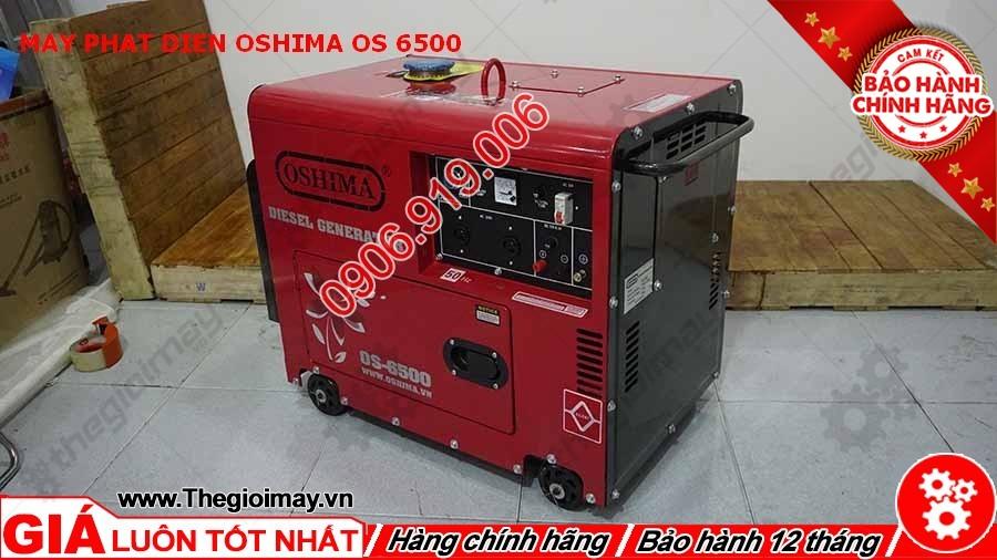 Hông phải máy phát điện Oshima OS 6500