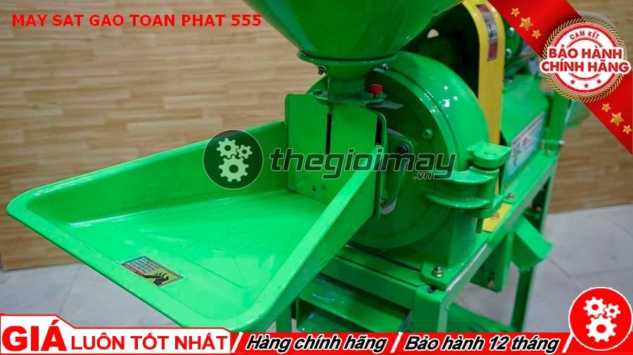 Cửa nguyên liệu máy xát gạo Toàn Phát 555