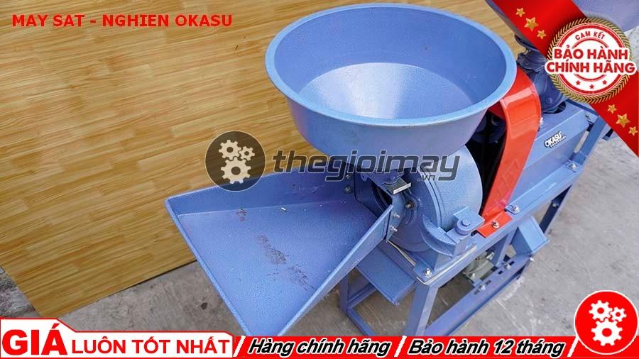 Nơi cho nguyên liệu máy xát nghiền Okasu