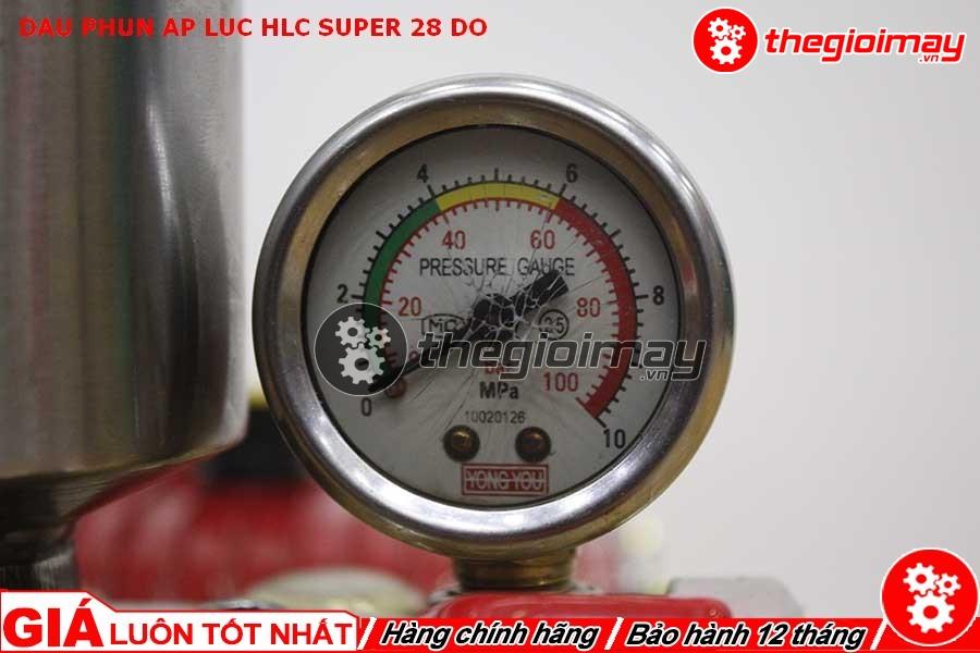 Đồng hồ đo áp lực của HLC super 28 đỏ