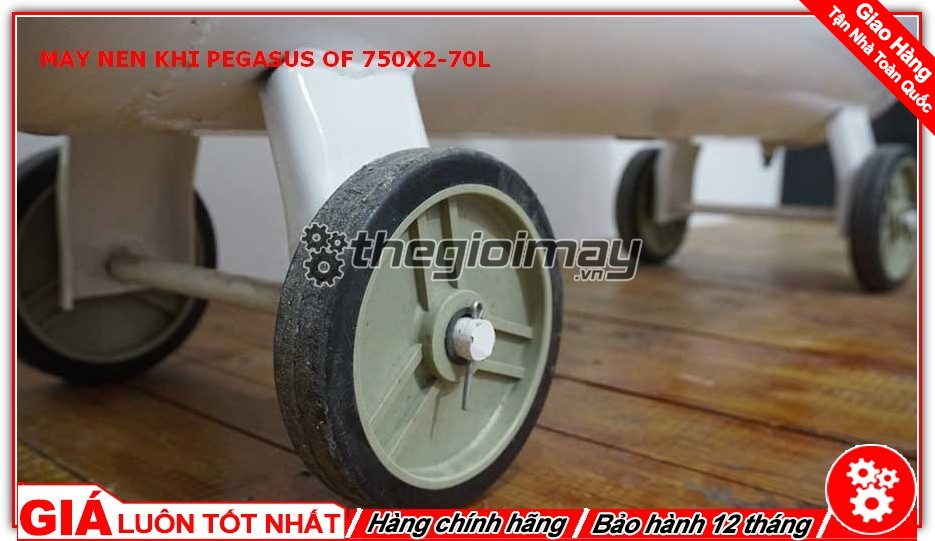 Máy trang bị hệ thống bánh xe giúp việc di chuyển trở nên dễ dàng hơn