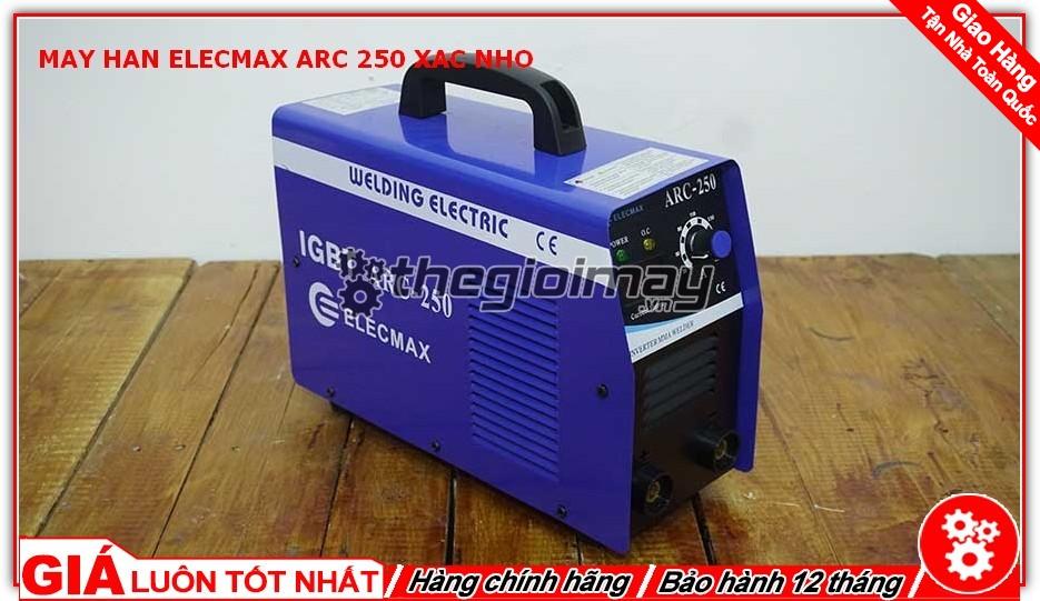 Mặt hông máy hàn Elecmax ARC 250 xác nhỡ