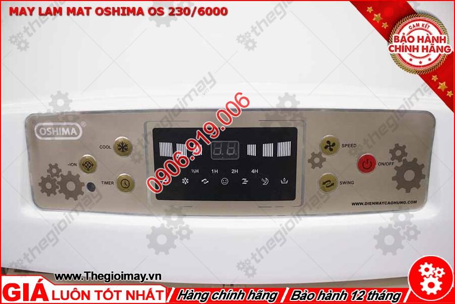 Bảng điều khiển của máy làm mát Oshima 230-6000