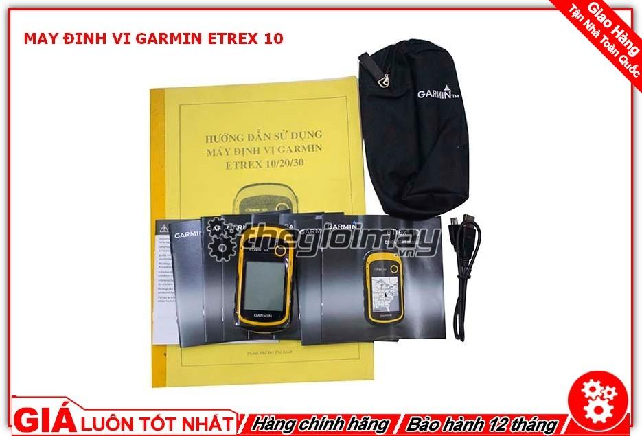 Bộ sản phẩm đầy đủ của máy định vị garmin etrex 10