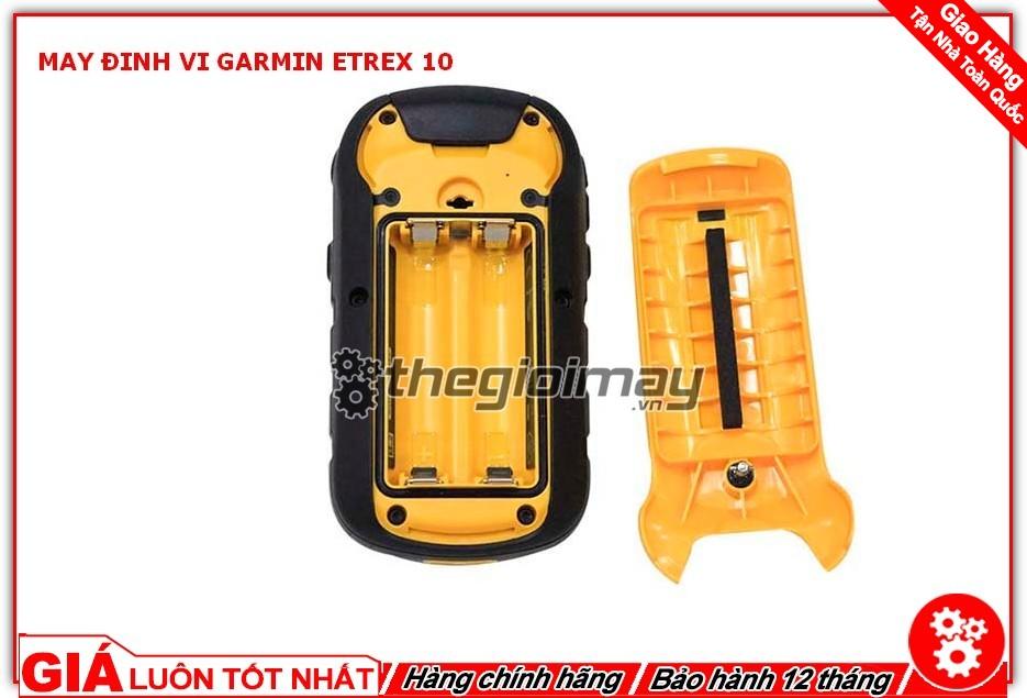 Mặt sau của máy định vị Garmin etrex 10