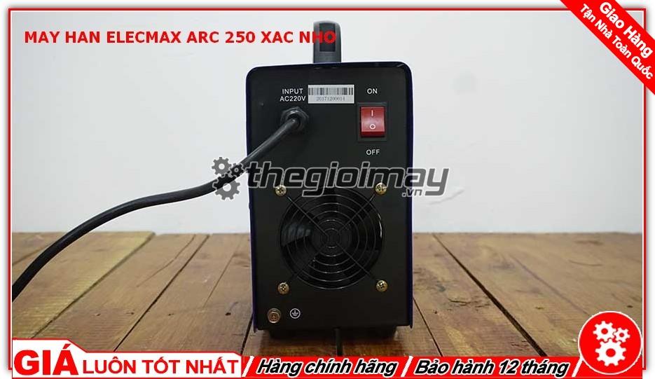 Mặt sau máy hàn Elecmax ARC 250 xác nhỡ