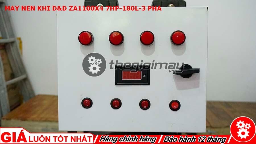 Bảng điều khiển của máy nén khí D&D ZA1100x4-7HP