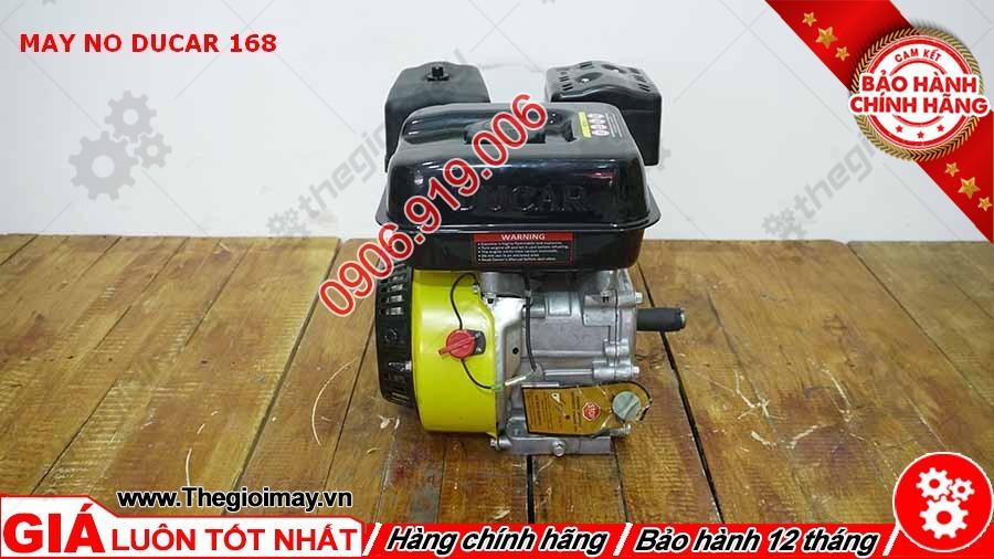 Máy nổ Ducar 168 là sản phẩm được người tiêu thụ tin dùng trong chạy ghe xuồng, động cơ cho máy tuốt lúa, máy khoan cắt bê tông,