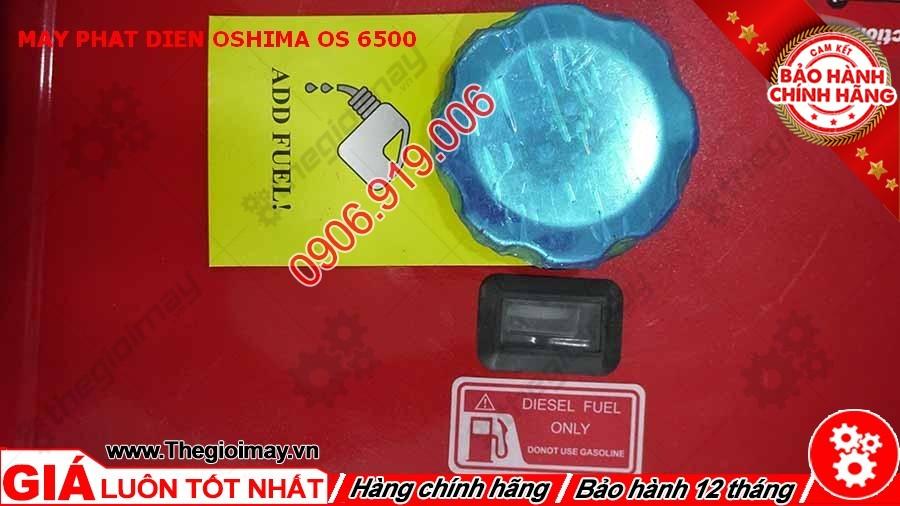 Nắp bình nhiên liệu máy phát điện Oshima OS 6500
