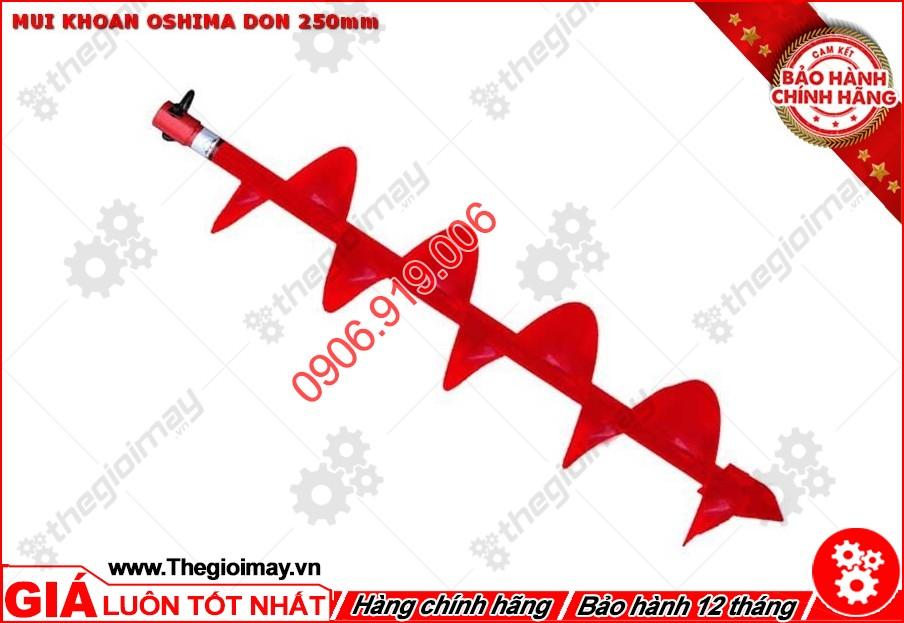 Mũi khoan Oshima đơn 250mm được lắp vào máy khoan đất 2P và 2PS của Oshima