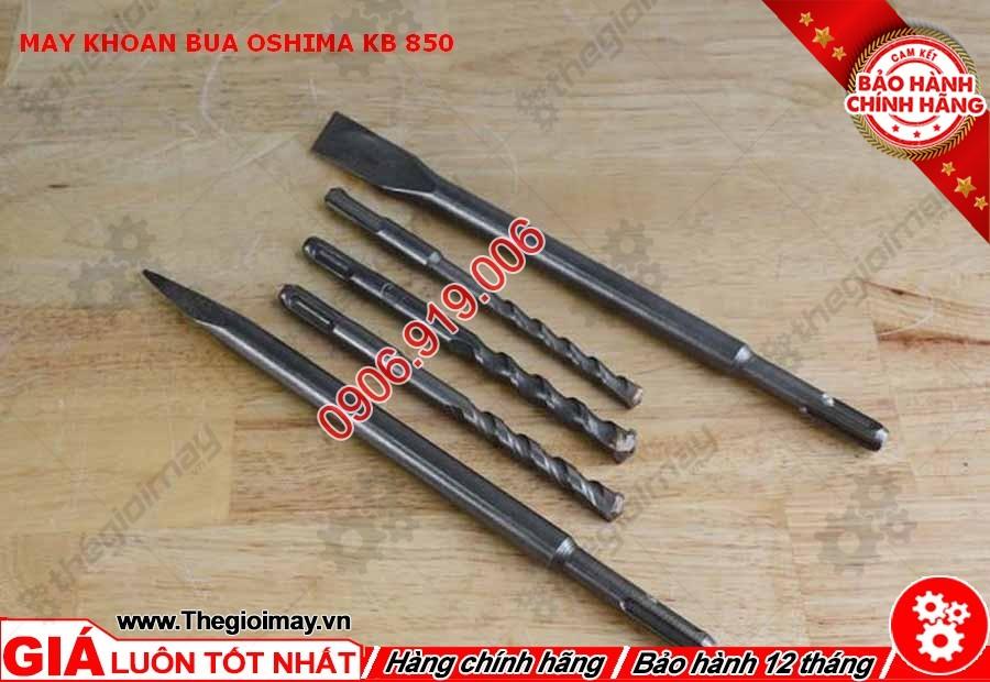 Mũi khoan và mũi đục máy khoan búa Oshima KB 850