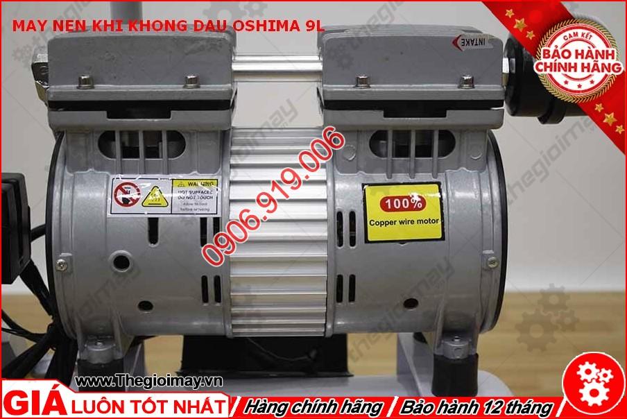 Động cơ máy nén khí không dầu oshima 9l lít