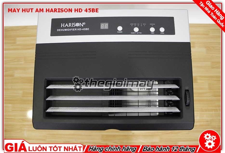 Điều chỉnh cửa hút máy hút ẩm công nghiệp Harison HD-45BE