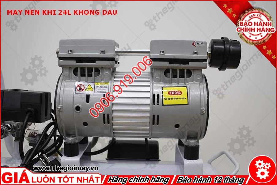 Động cơ máy nén khí không dầu oshima 24 lít