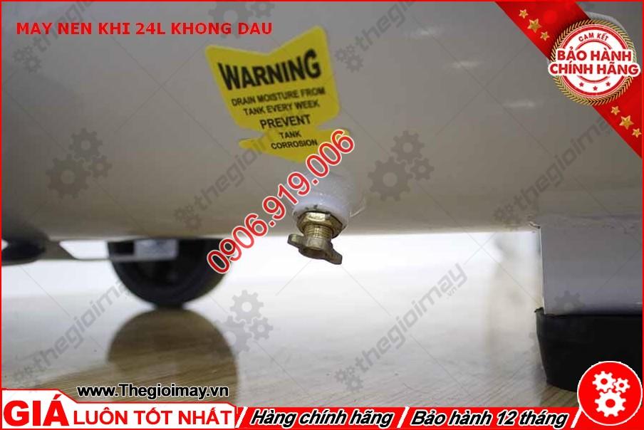 Van xả nước máy nén khí không dầu oshima 24 lít