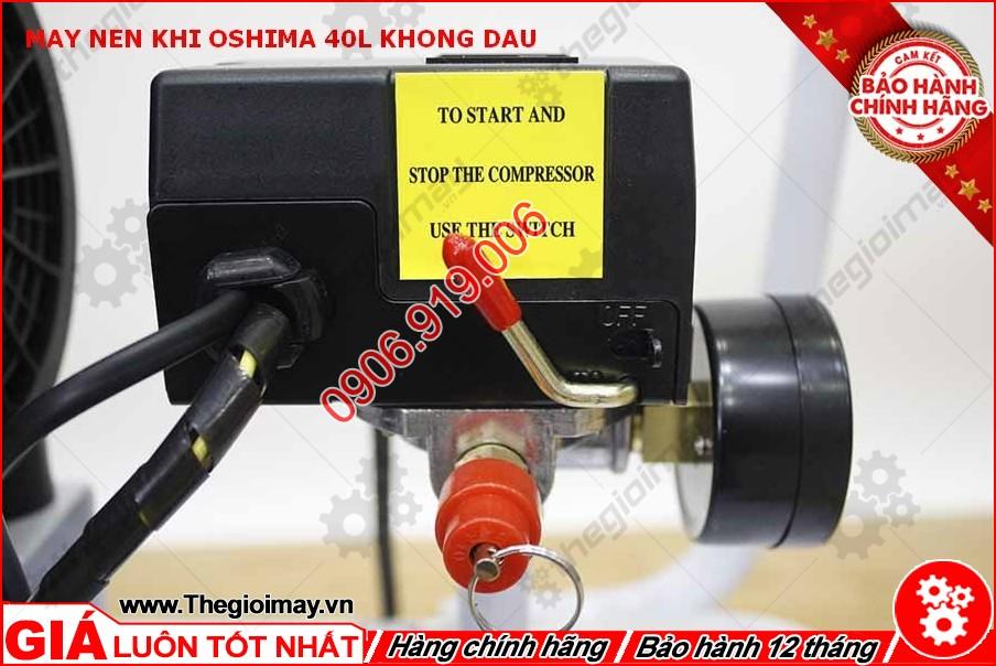 Công tắc máy nén khí không dầu oshima 40 lít