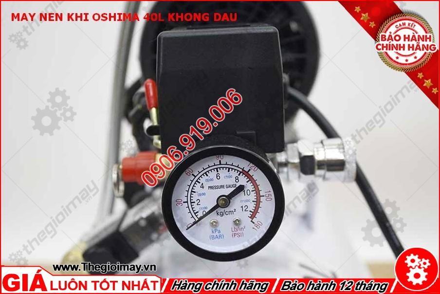Đồng hồ máy nén khí không dầu oshima 40 lít