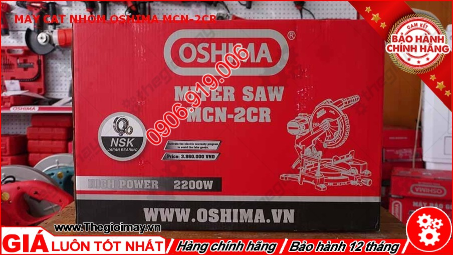 Thùng máy cắt nhôm oshima MCN-2CR