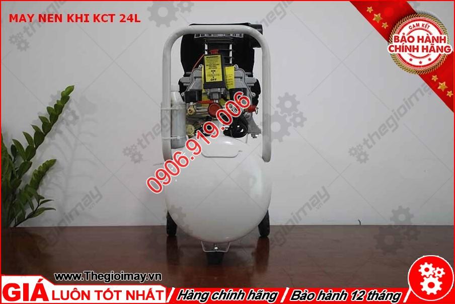 Mặt hông máy nén khí KCT 24 lít