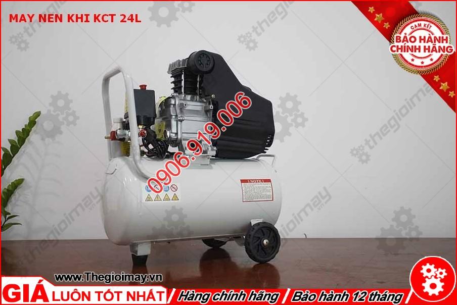 Mặt sau máy nén khí KCT 24 lít