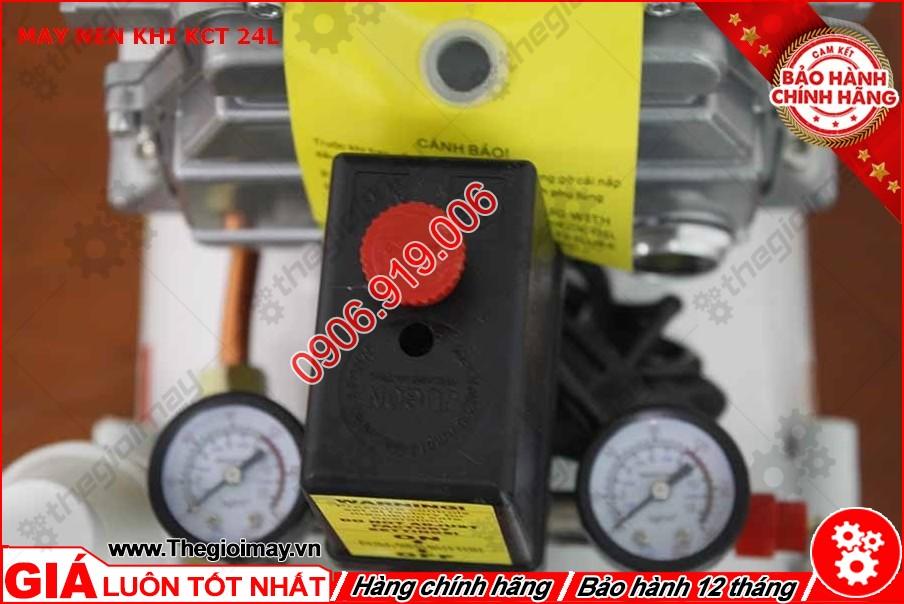 Đồng hồ và công tắc máy nén khí KCT 24 lít