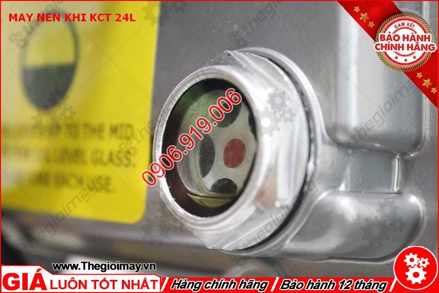Mắt nhớt máy nén khí KCT 24 lít