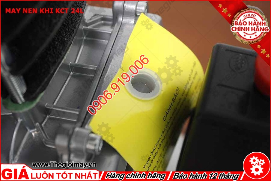Lỗ thở máy nén khí KCT 24 lít