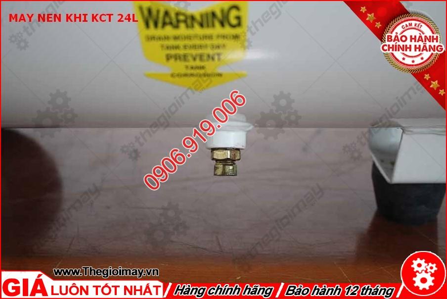 Van xả nước máy nén khí KCT 24 lít